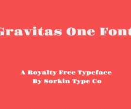 Gravitas One Font Family Free Download