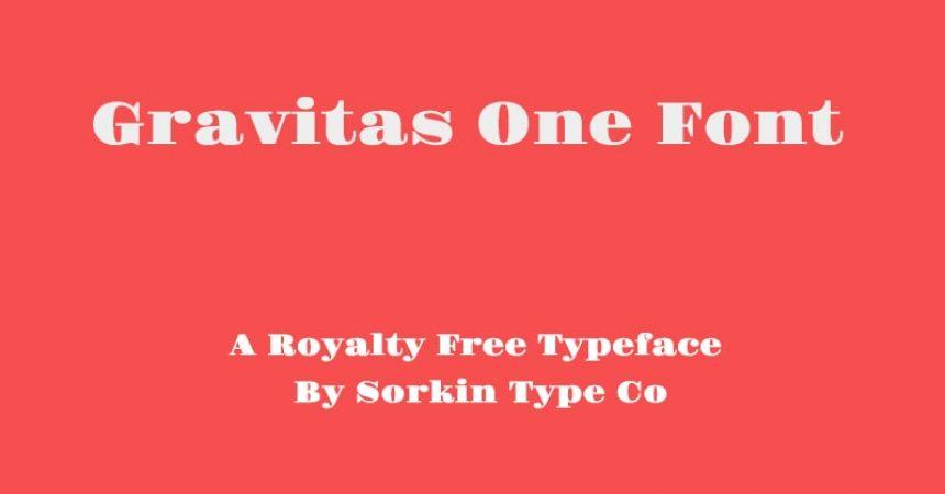 Gravitas One Font Family Free Download