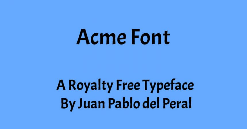 Acme Font Family Free Download