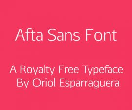 Afta Sans Font Family Free Download