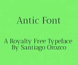 Antic Font Family Free Download