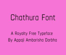 Chathura Font Family Free Download