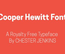 Cooper Hewitt Font Family Free Download