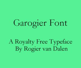 Garogier Font Family Free Download