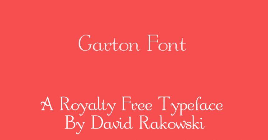Garton Font Family Free Download