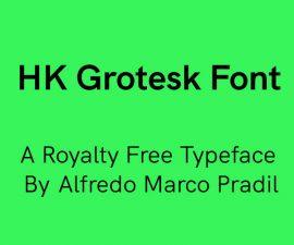 HK Grotesk Font Family Free Download