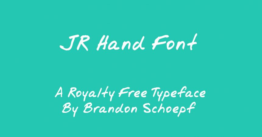 Jr Hand Font Family Free Download