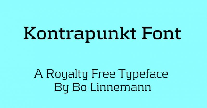 Kontrapunkt Font Family Free Download