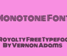 Monotone Font Family Free Download