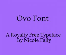 Ovo Font Family Free Download