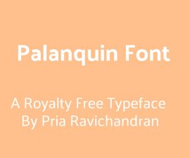 Palanquin Font Family Free Download