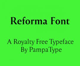 Reforma Font Family Free Download