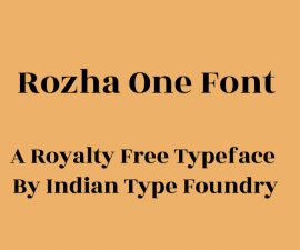 Rozha One Font Family Free Download