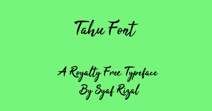 Tahu Font Family Free Download