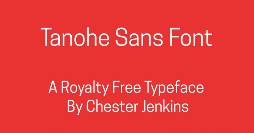 Tanohe Sans Font Family Free Download