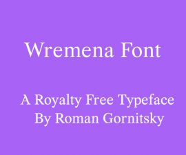 Wremena Font Family Free Download