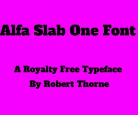 Alfa Slab One Font Family Free Download