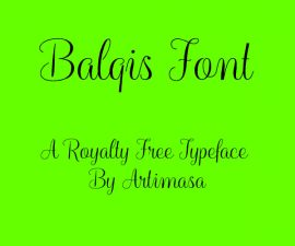 Balqis Font Family Free Download