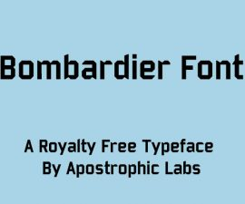 Bombardier Font Family Free Download