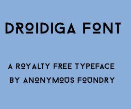 Droidiga Font Family Free Download