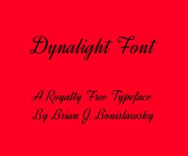 Dynalight Font Family Free Download