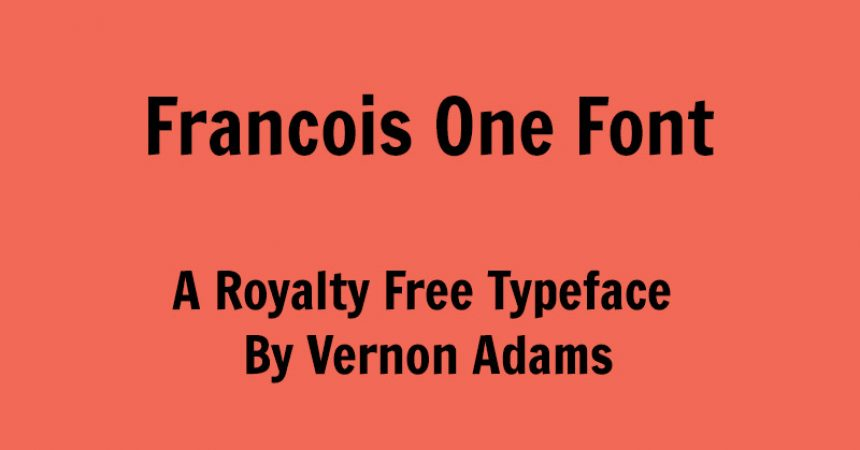 Francois One Font Family Free Download