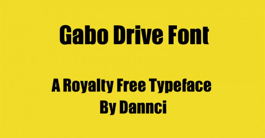 Gabo Drive Font Family Free Download