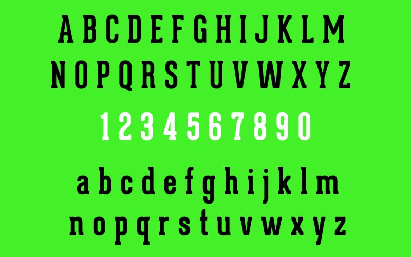 Geared Slab Bold Font Family Download