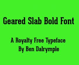 Geared Slab Bold Font Family Free Download