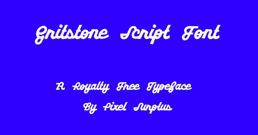 Gritstone Script Font Family Free Download