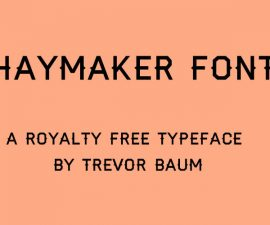 Hayamaker Font Family Free Download