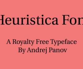 Heuristica Font Family Free Download