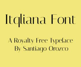 Itqliana Font Family Free Download