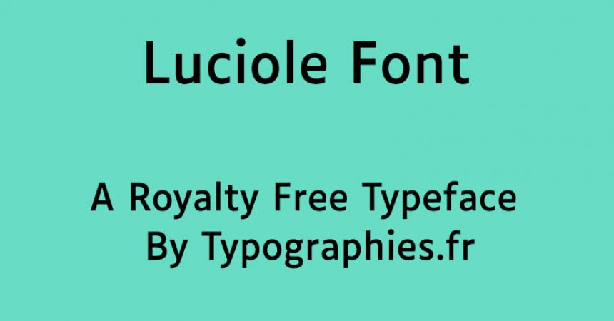 Luciole Font Family Free Download