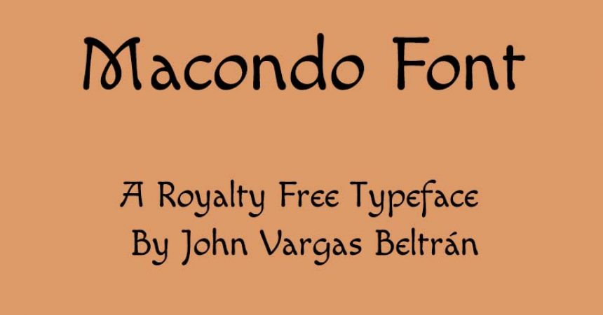 Macondo Font Family Free Download