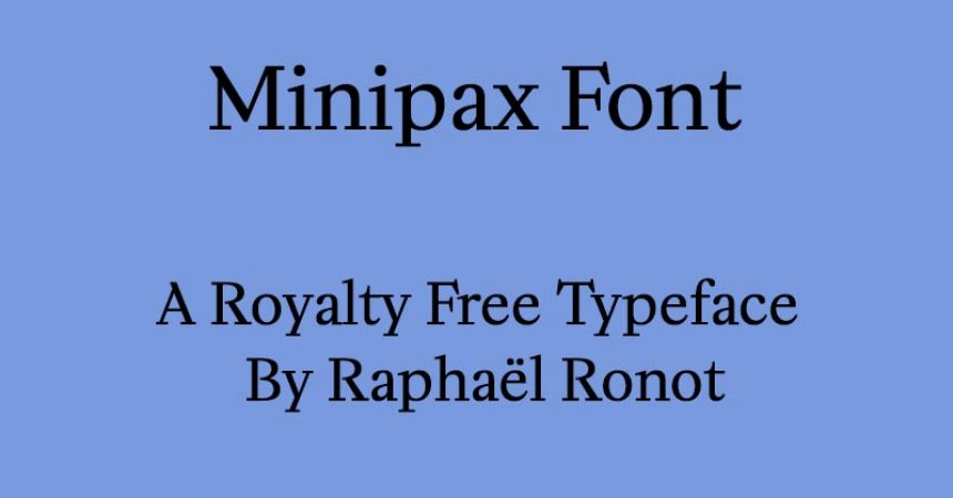 Minipax Font Family Free Download