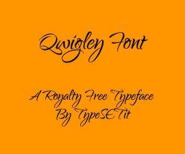 Qwigley Font Family Free Download