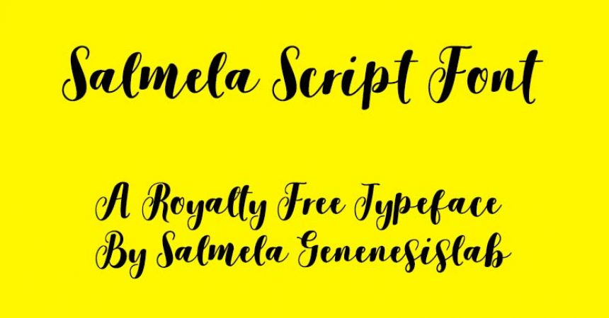 Salmela Script Font Family Free Download