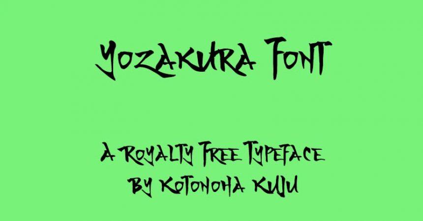 Yozakura Font Family Free Download