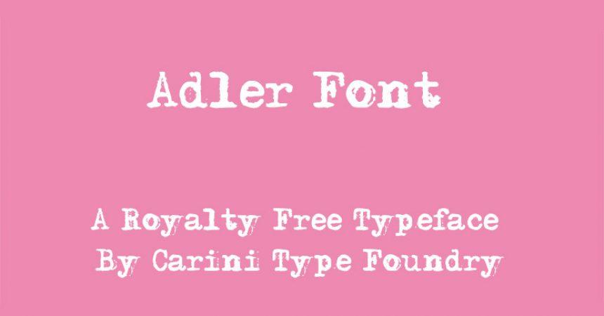 Adler Font Family Free Download