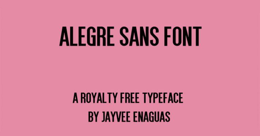 Alegre Sans Font Family Free Download
