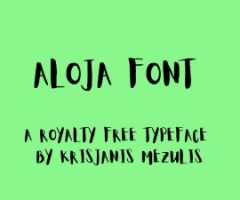 Aloja Font Family Free Download