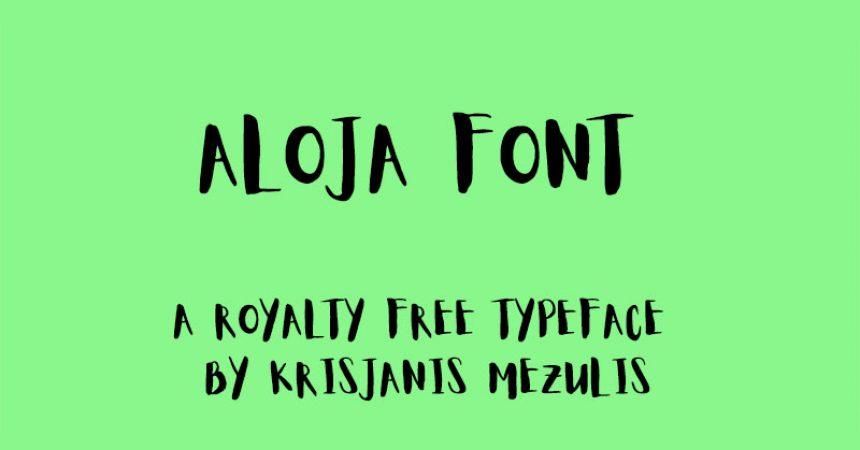 Aloja Font Family Free Download