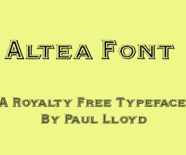 Altea Font Family Free Download