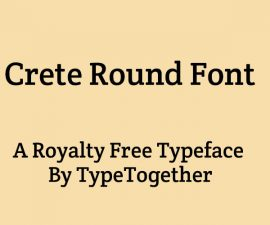 Crete Round Font Family Free Download
