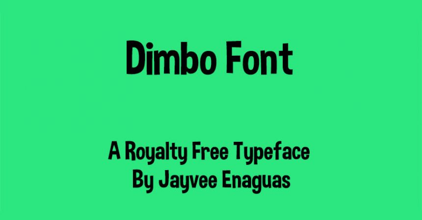 Dimbo Font Family Free Download