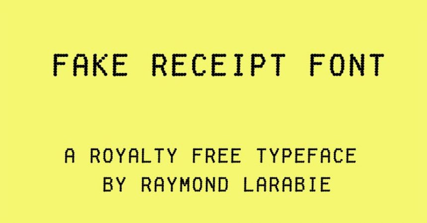 Fake Receipt Font Family Free Download