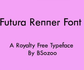 Futura Renner Font Family Free Download