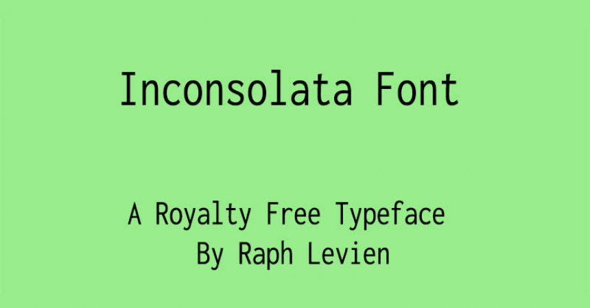 Inconsolata Font Family Free Download