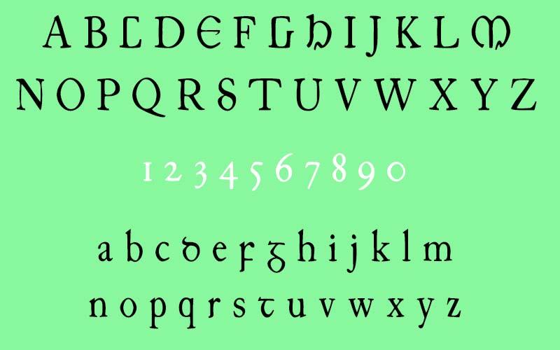 Junius Irish Font Family Download